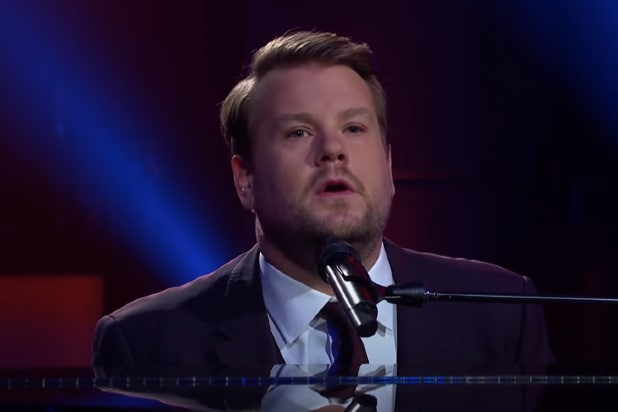 """James Corden performs """"Maybe I'm Immune"""""""