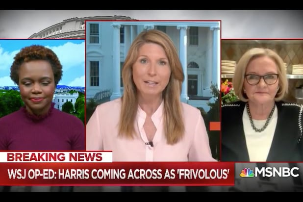 Nicolle Wallace Says Peggy Noonan's Kamala Harris Op-Ed Caused Her 'Physical Pain' (Video)