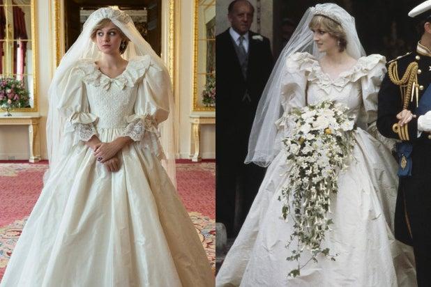Princess Diana Wedding Dress The Crown