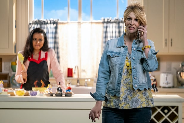 """Jane Lynch in """"Sarah Cooper: Everything's Fine"""""""