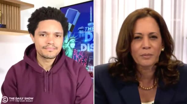 Kamala Harris and Trevor Noah Ponder Why Conservatives Botch Her Name (Video)