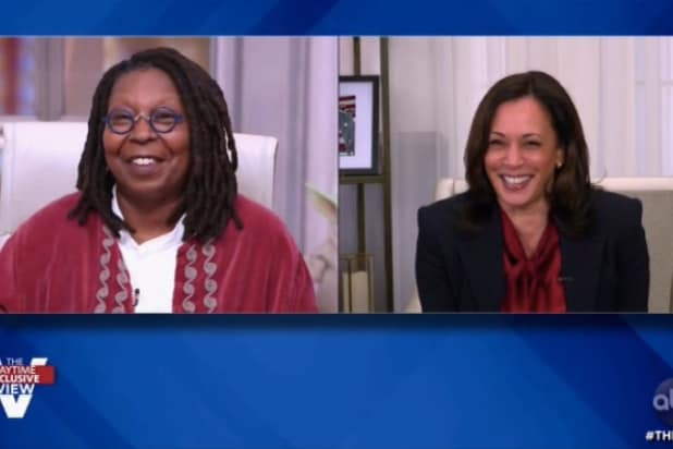 Whoopi Goldberg Goes Giggly Asking Kamala Harris If She Saw Pence's Famous Fly (Video)