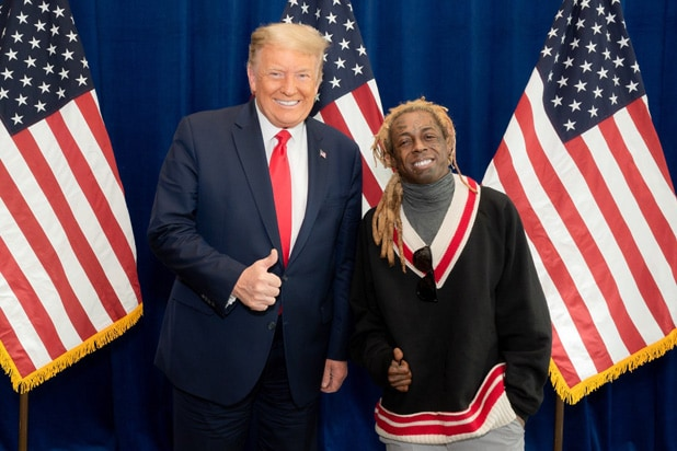 Donald Trump and Lil Wayne