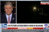 sean hannity fox news cameras outside joe biden's house in delaware hunter biden conspiracies
