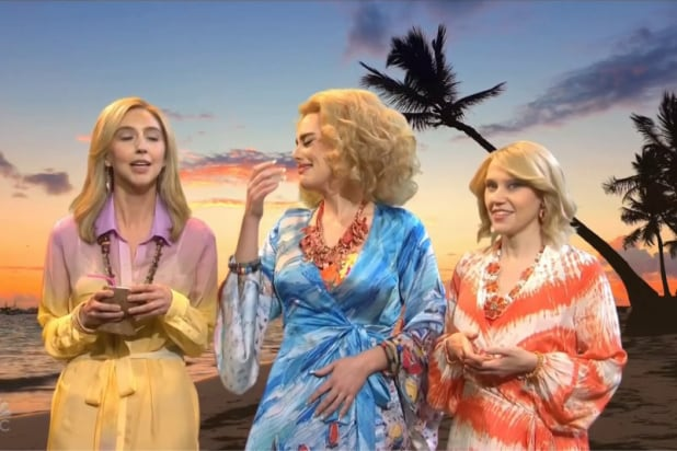 'SNL': Adele Can't Stop Cracking Up at Kate McKinnon Saying 'Tribesmen' (Video)