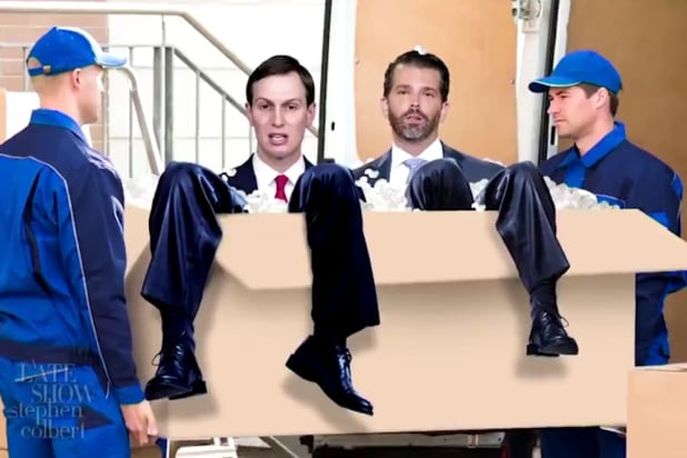 Colbert Knows Just the Moving Company to Make Trump Leave the White House