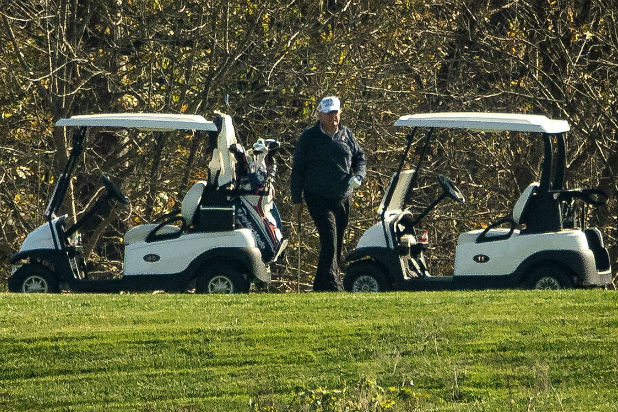 Donald Trump Sad Golf Loses to Joe Biden