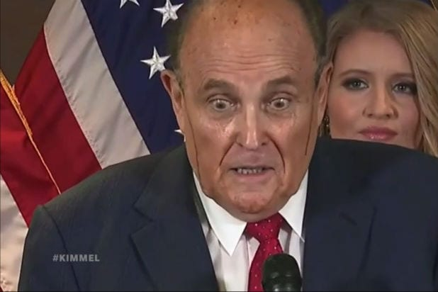 Jimmy Kimmel Live Rudy Giuliani Hair Dye Debacle