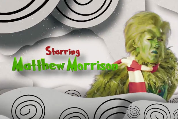 Matt Morrison NBC The Grinch Musical