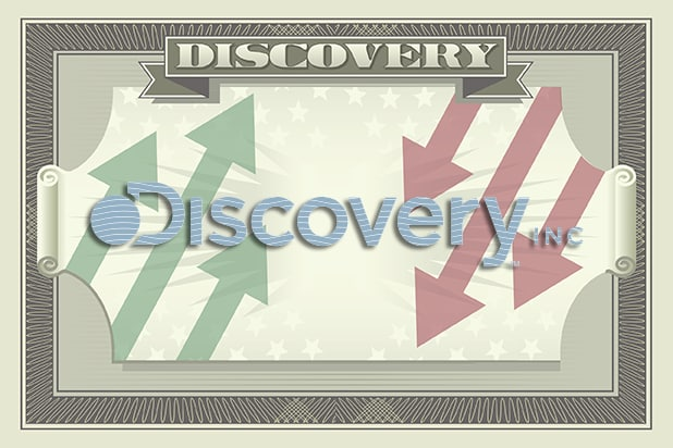discovery inc dollar bill graphic