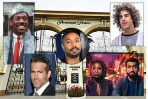 Paramount Pictures studio gate Trial of the Chicago 7 The Lovebirds Coming 2 America Eddie Murphy Michael B. Jordan Ryan Reynolds