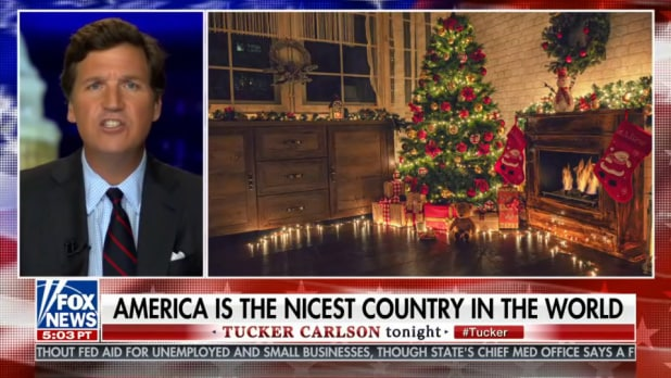 tucker carlson america is nicest country in the world