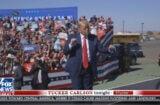 tucker carlson montage of trump dancing badly