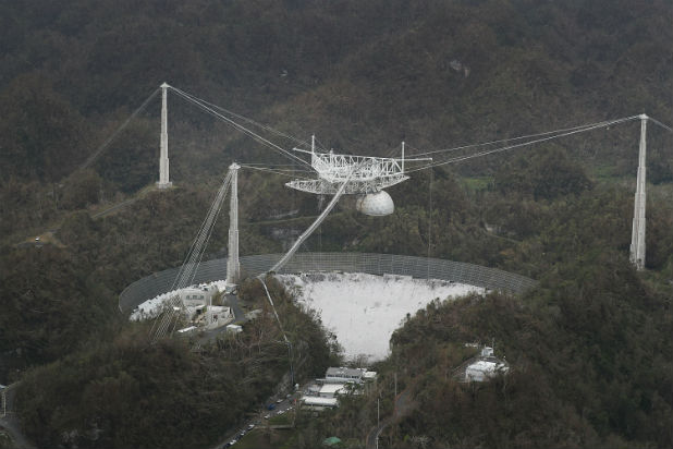 Watch Crazy Drone Footage of the Arecibo Observatory Collapse (Video) - TheWrap