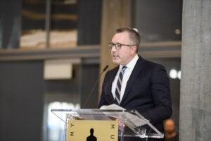 Academy Museum President Bill Kramer at museum media tour