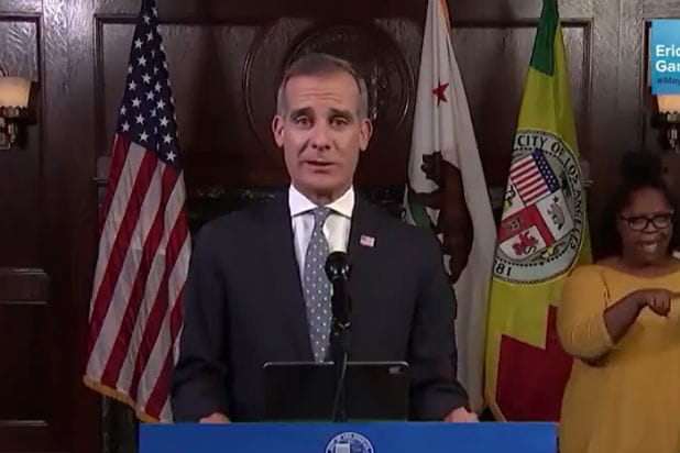Eric Garcetti Mayor of LA New Stay at Home Order COVID