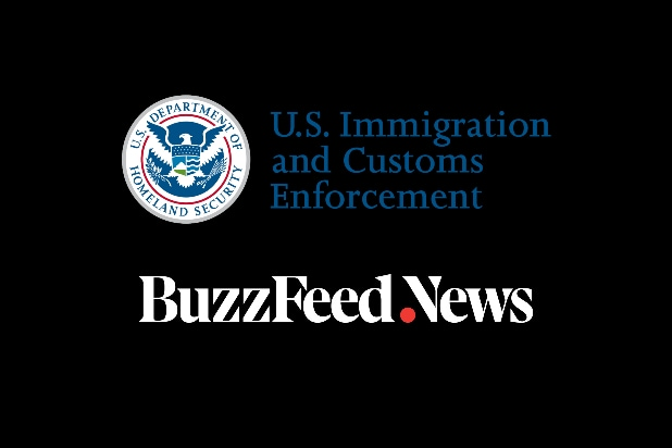 ICE, BuzzFeed News logos