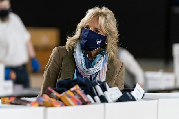 Dr. Jill Biden And General Lloyd Austin Assemble Care Packages For Holiday Season