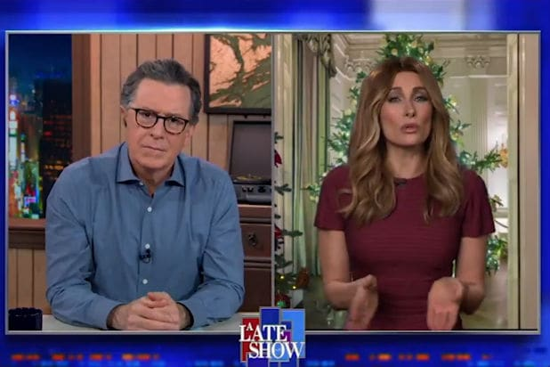 Stephen Colbert Fake Melania Trump Christmas