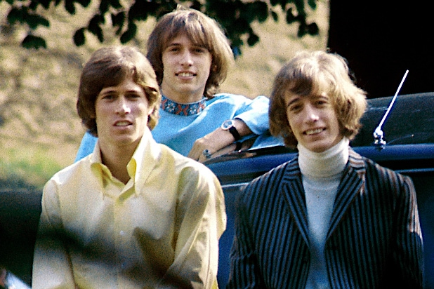 The Bee Gees Barry Gibb Maurice Gibb Robin Gibb (l to r)