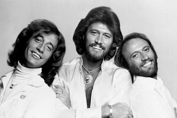 The Bee Gees Robin Gibb Barry Gibb Maurice Gibb (l to r)
