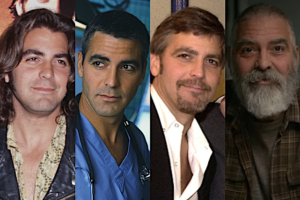 evolution of georger clooney's hair