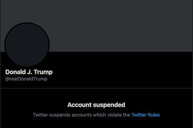 @realDonaldTrump suspended