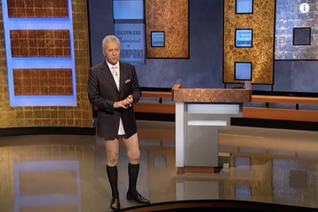 Ken Jennings Explains Why Alex Trebek Ditched His Pants That One Time on 'Jeopardy!' (Video)