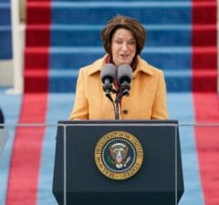 Amy Klobuchar Recalls 'Chilling' Spray Paint Reminder of Capitol Riot During Biden Inauguration (Video)