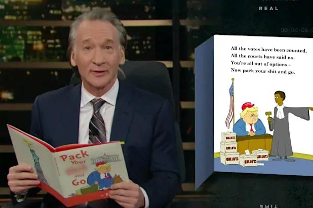 Bill Maher Sends Trump Off With a Children's Book Called 'Pack Your S– and Go' (VIdeo)