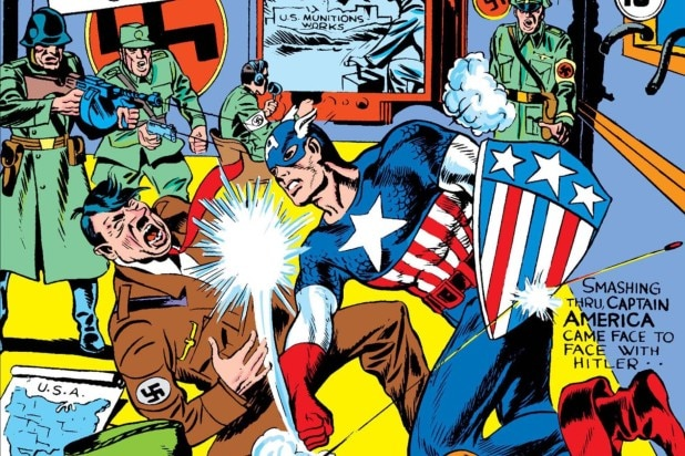 Captain America Punches Nazis (1)
