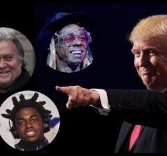 Donald Trump pardons Steve Bannon Lil Wayner Kodak Black