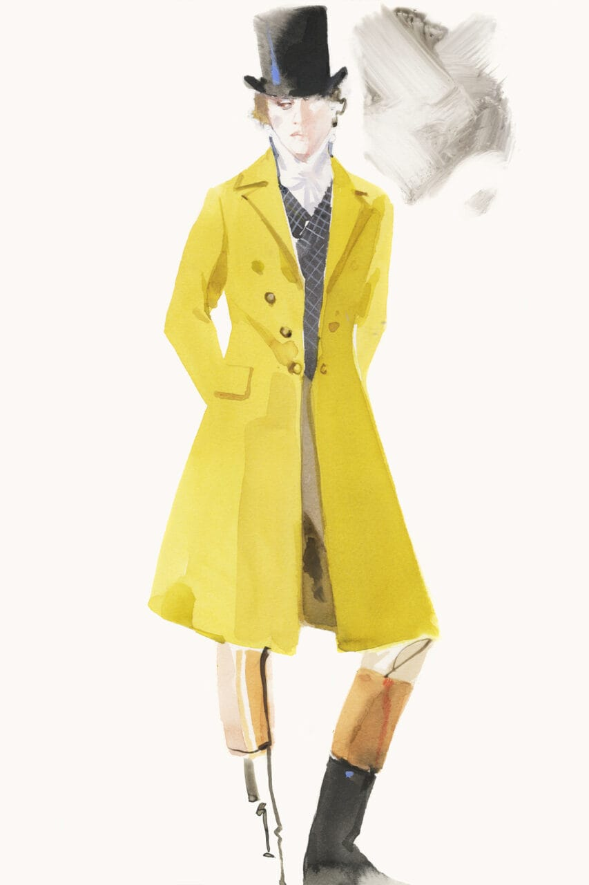 Emma movie costume sketch