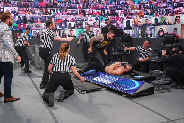 Kevin Owens and Roman Reigns on Fox's SmackDown