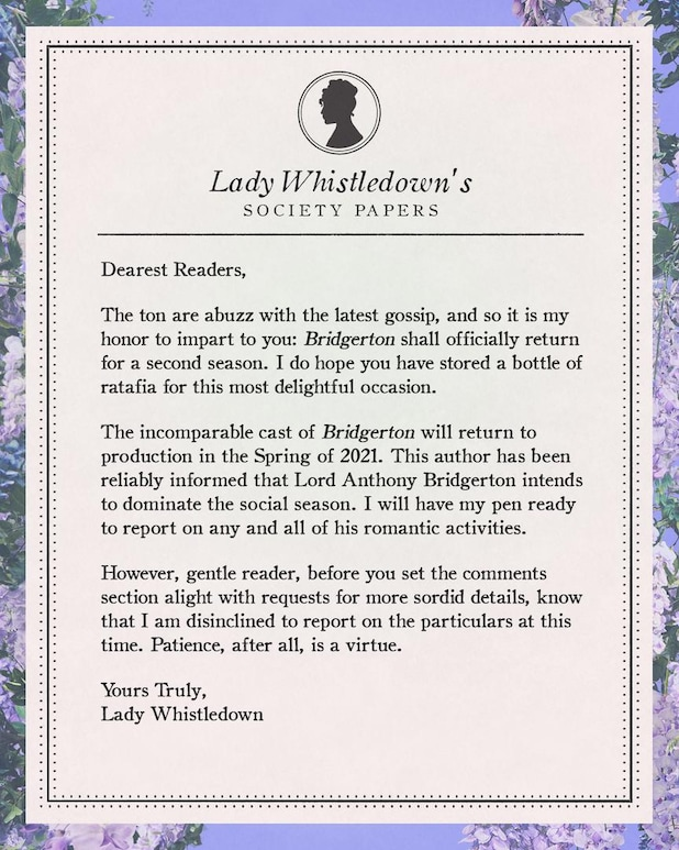 Lady Whistledown Society papers