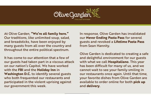 Olive Garden Sean Hannity meme