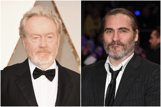 Ridley Scott Joaquin Phoenix Kitbag
