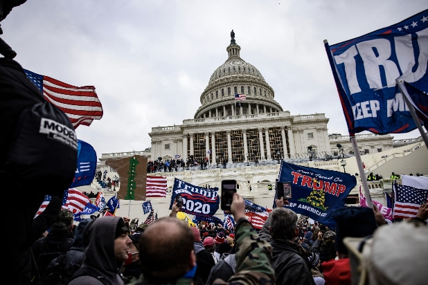 Riot Capitol Building Congress Holds Joint Session To Ratify 2020 Presidential Election