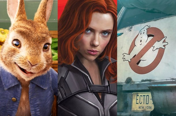 Peter Rabbit 2 Black Widow Ghostbusters Afterlife