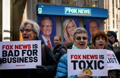 fox news headquarters hq protest 2019