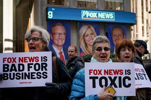 fox news headquarters hq protest 2019