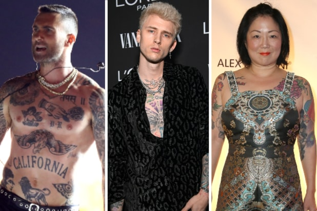 adam levine machine gun kelly margaret cho tattoos