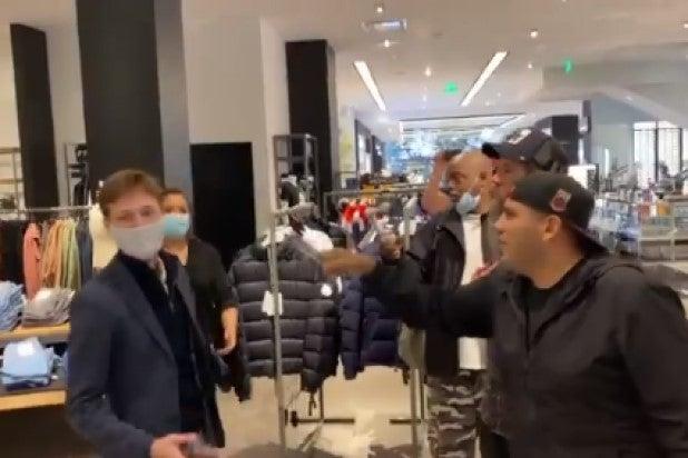 anti maskers century city mall