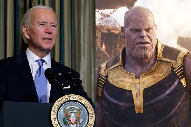 biden inauguration thanos trump