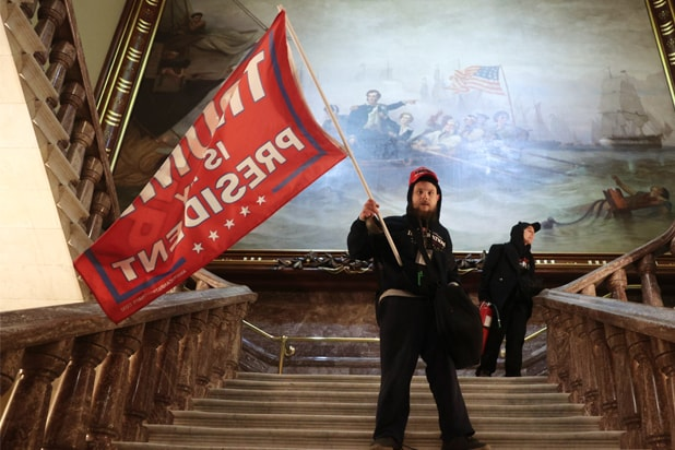 capitol protest trump flag