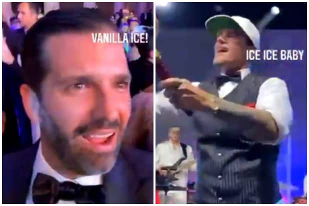 donald trump jr vanilla ice mar-a-lago new year's eve party