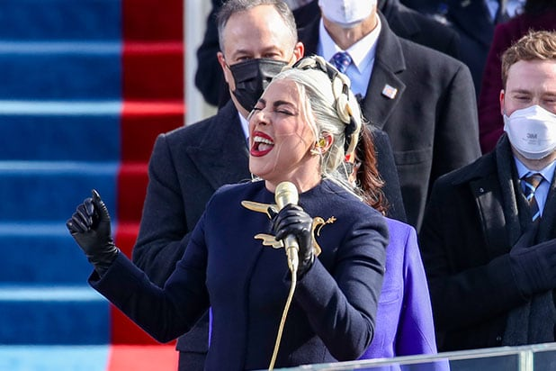 Watch Lady Gaga Slay the National Anthem at the Biden Inauguration (Video) thumbnail