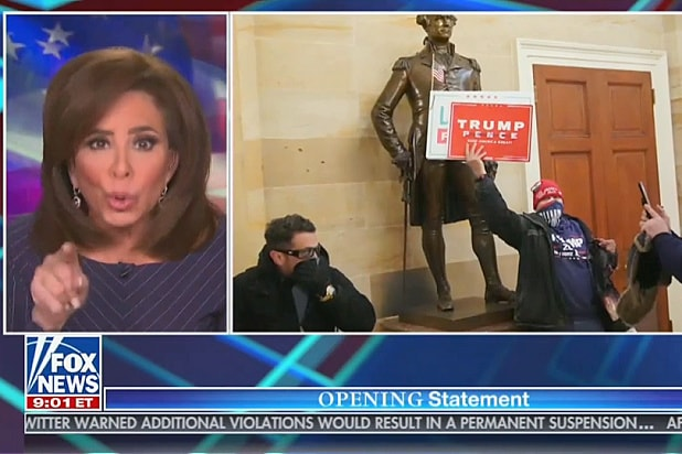 Judge Jeanine Demands Capitol Riot 'Freaks' Stop Blaming Antifa for What They Did (Video)