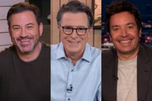 late night tv ratings kimmel colbert trump