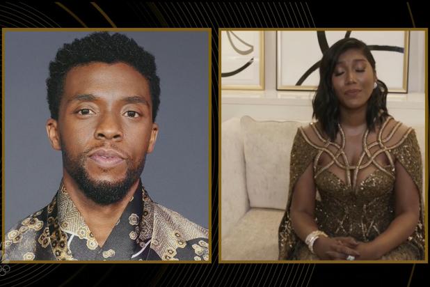 Chadwick Boseman Golden Globes Taylor Simone Ledward
